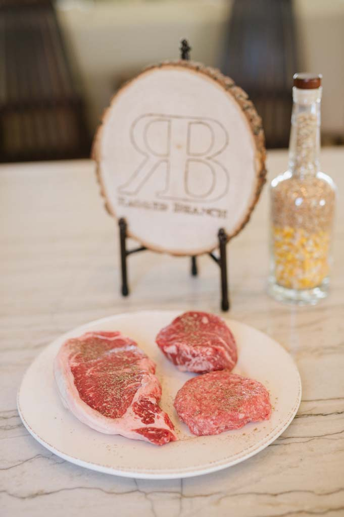 Ragged Branch steaks and bourbon