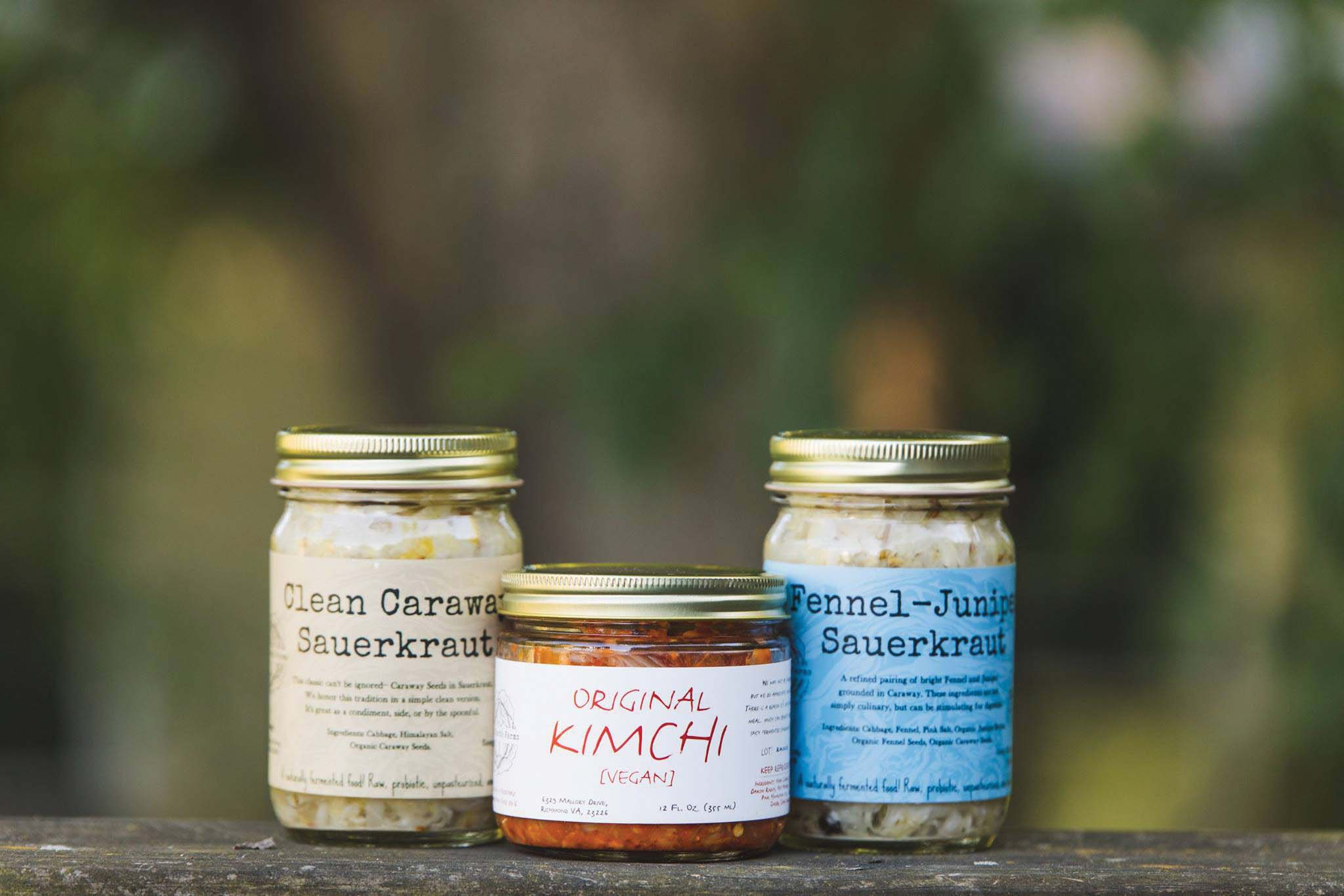 Wild Earth Fermentation kimchi and sauerkraut