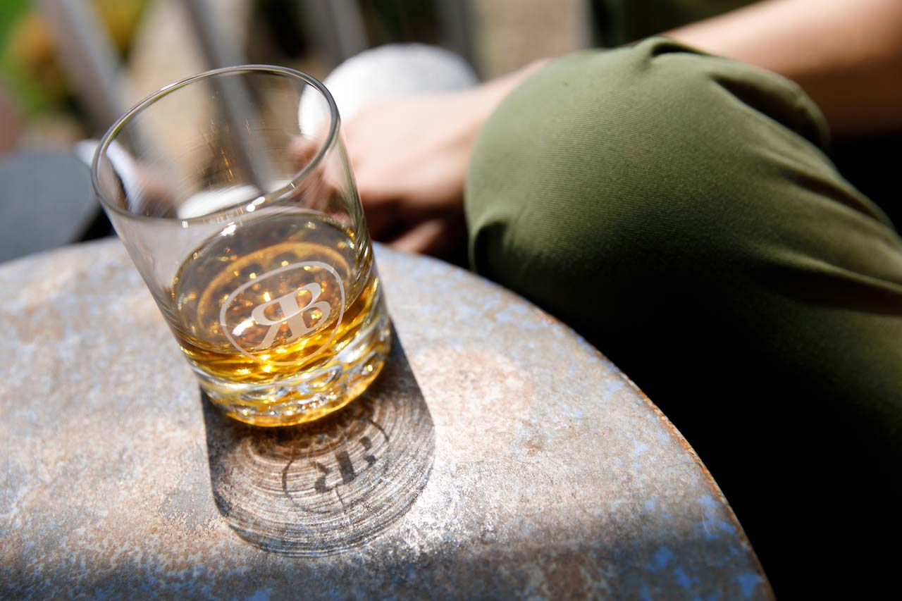 Ragged Branch Craft Distillery glass of bourbon