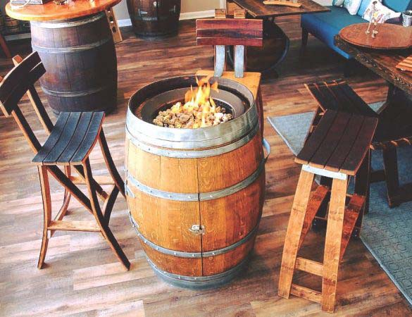 Barrel-Art Creates Works of Art from Wine Barrels