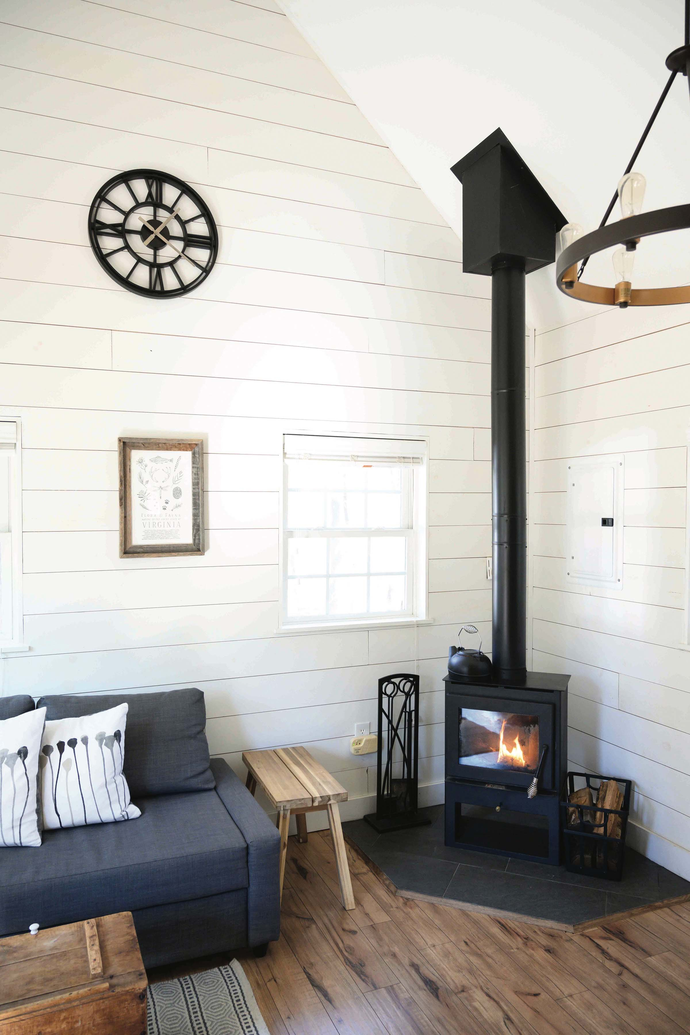 glamping in a tiny cabin