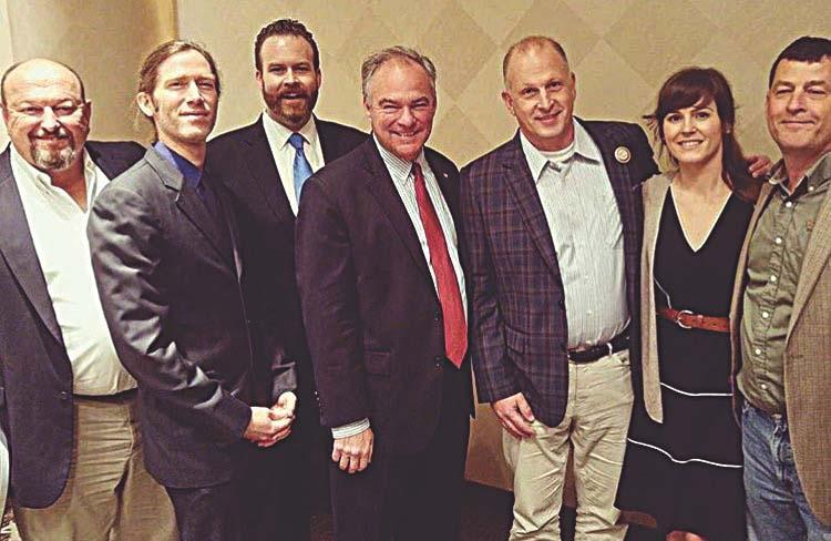 Virginia Distillers Association meet with Sen. Tim Kaine