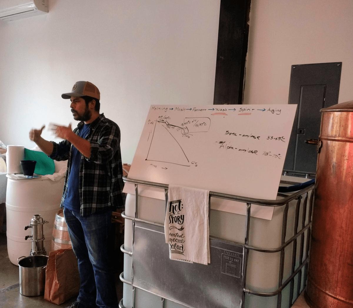 distilling class at Spirits Lab