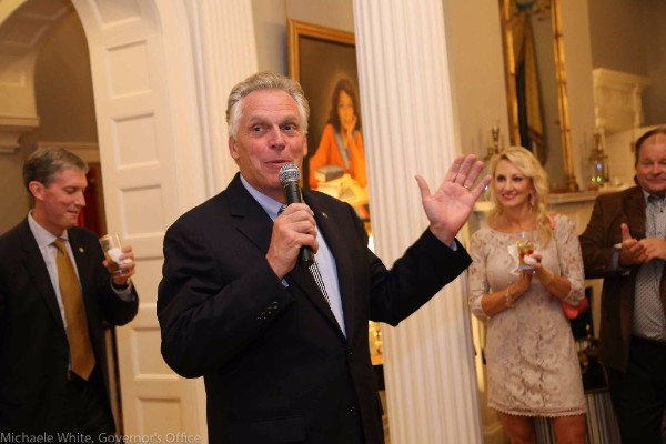 Governor Terry McAuliffe Virginia Spirits Month