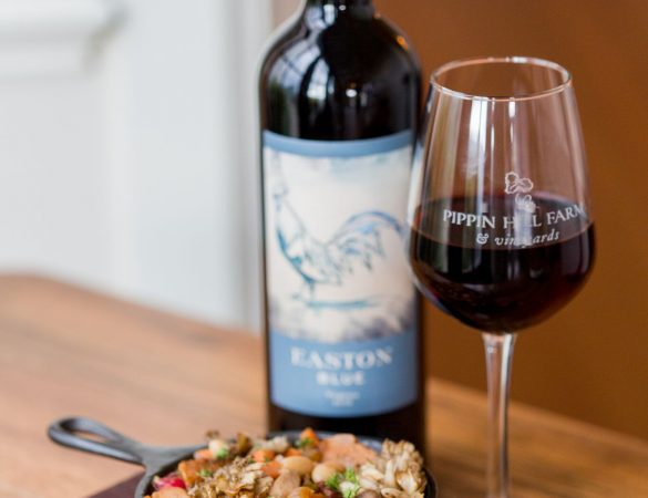 Pippin Hill's Easton Blue Paired with Mushroom Cassoulet