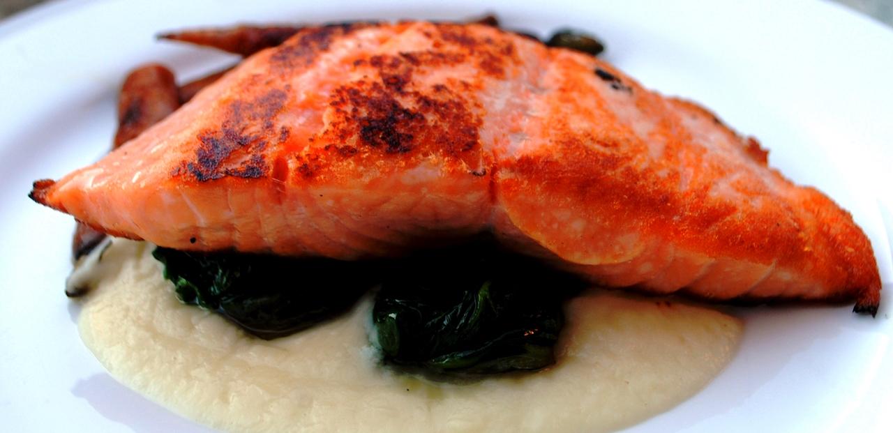 Rocca Bar and Ristorante, Lexington, salmon
