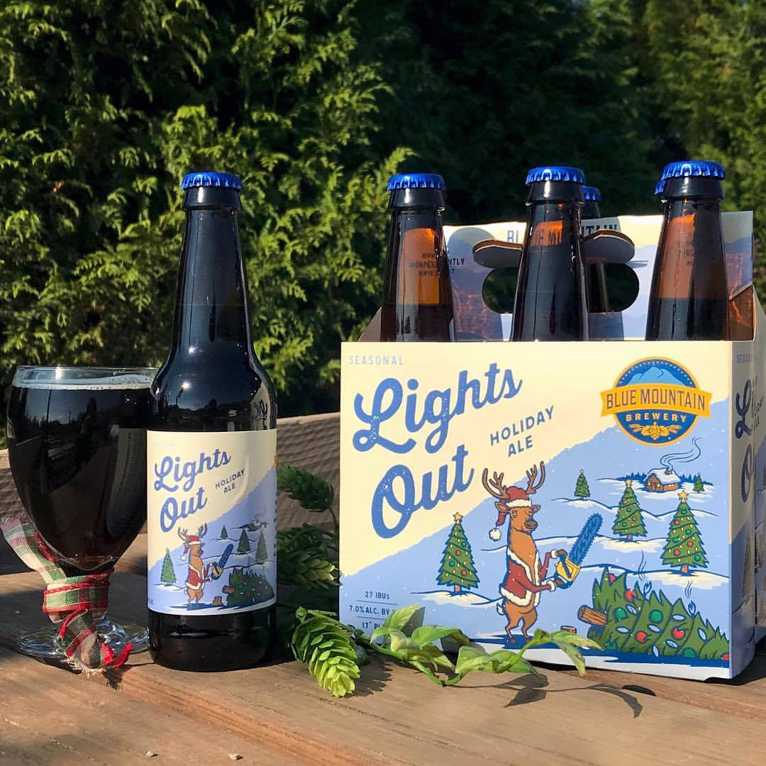 Lights Out, Blue Mountain Brewery, Afton, Holiday beer