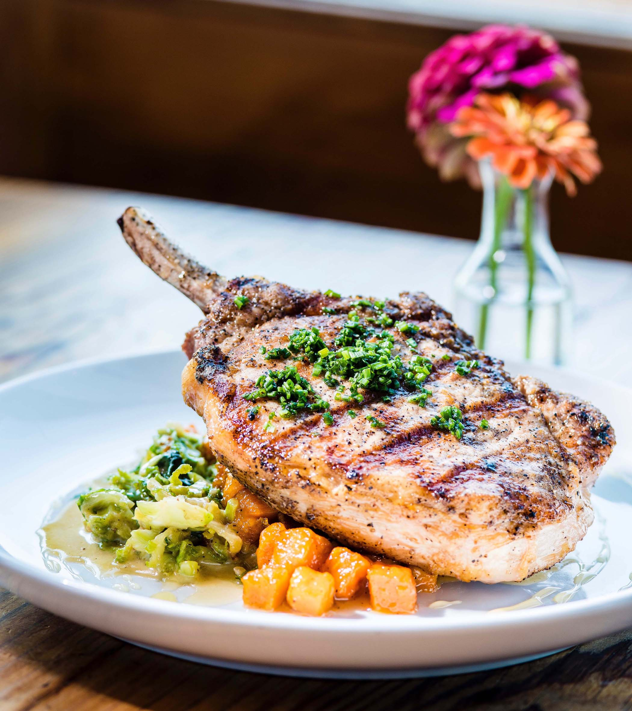 Grilled Bone-In Pork Chop, Esoteric