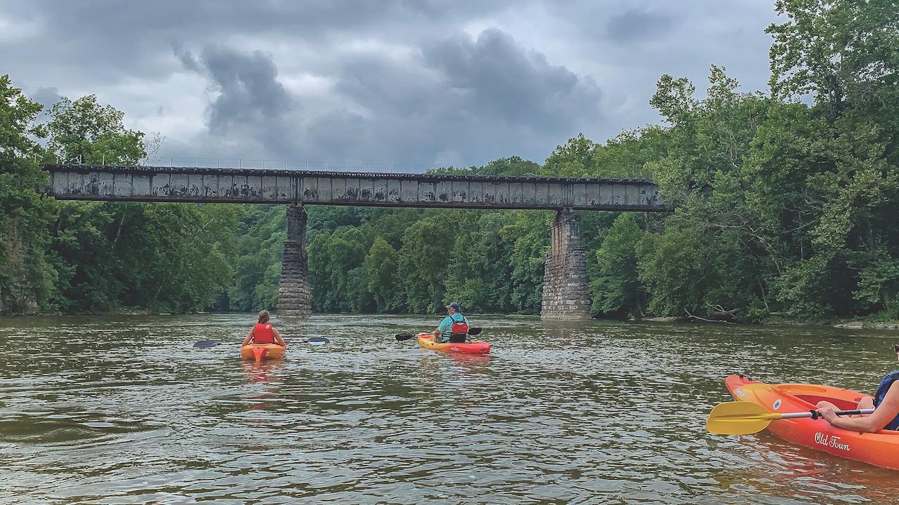 kayaking in the Blue Ridge