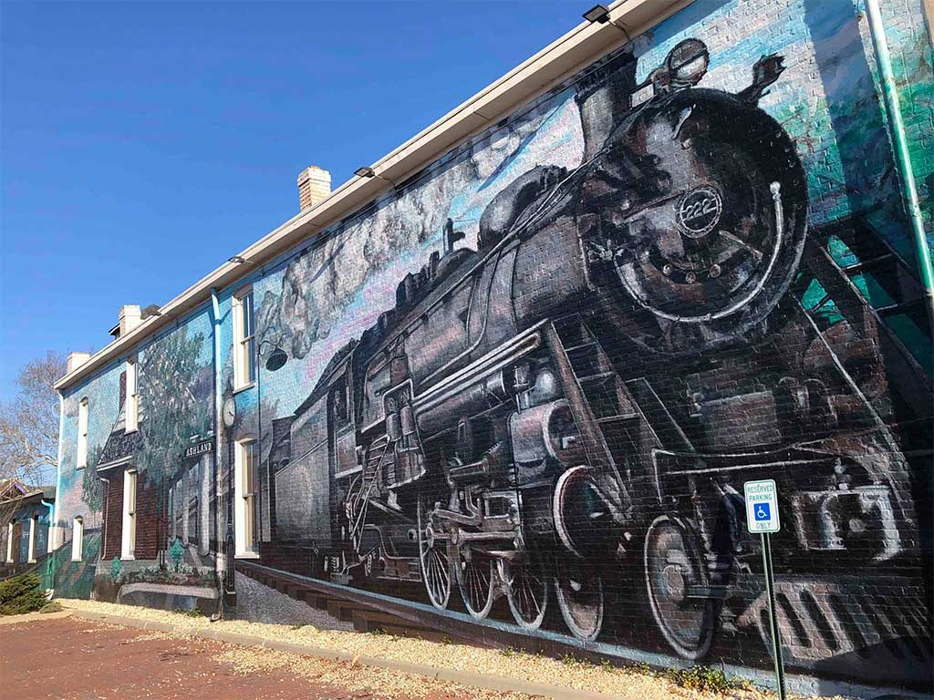 The Caboose mural