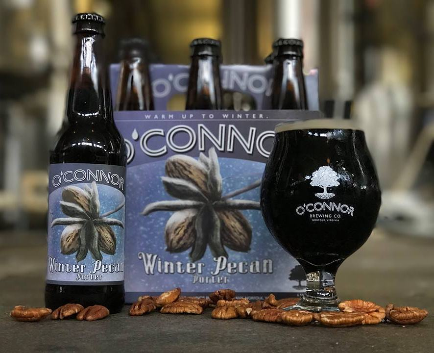 Winter Pecan Porter, O'Connor Brewing, Norfolk, holiday beers