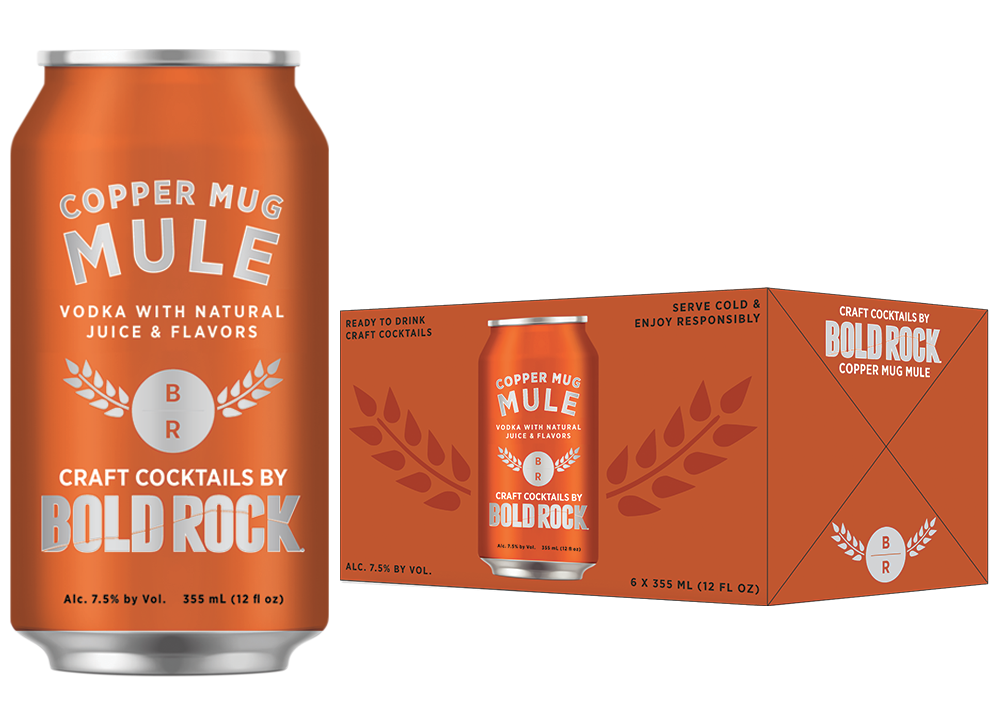 canned cocktails-Bold Rock mule