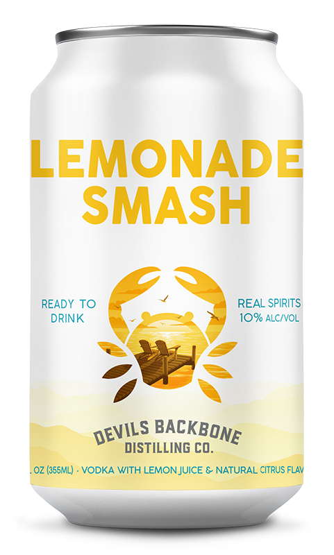 canned cocktails-Devils Backbone lemonade smash