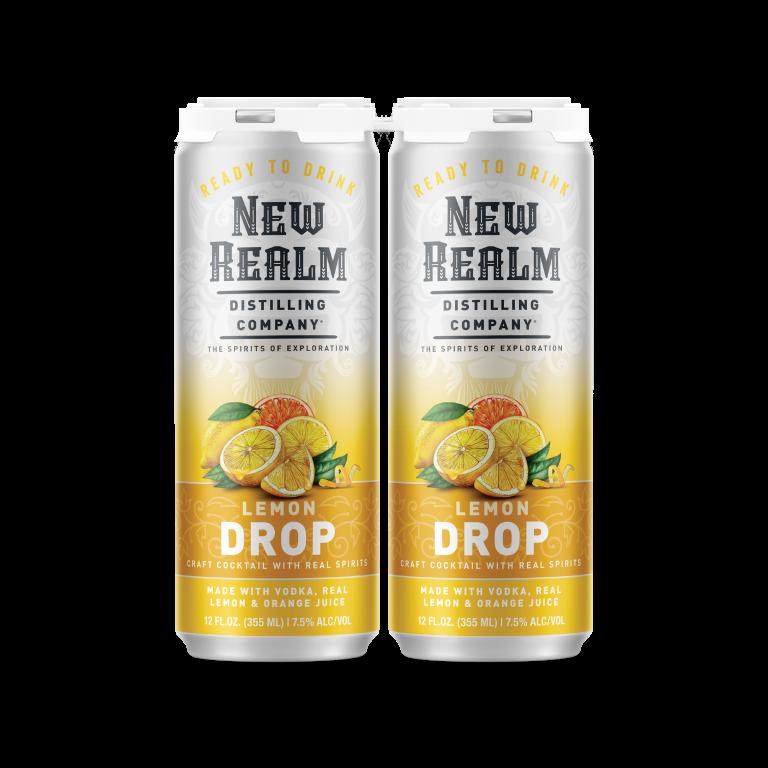 canned cocktails-New Realm lemon drop