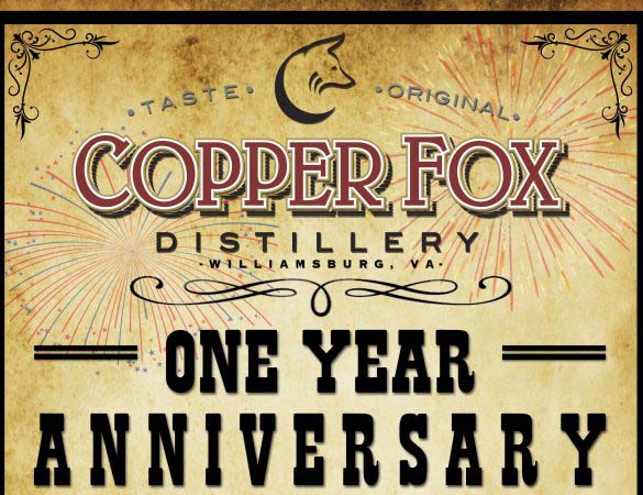 Copper Fox Distillery Williamsburg Anniversary Celebration
