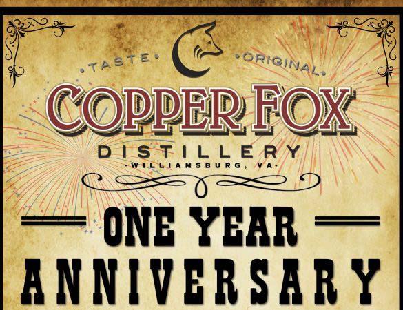 Copper Fox Distillery Williamsburg Anniversary Celebration