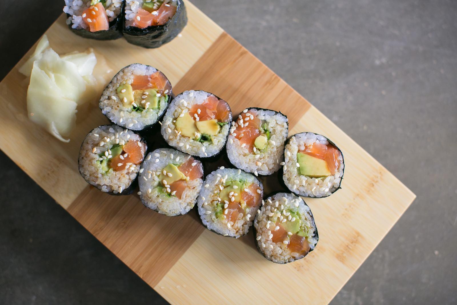 North American Sake, sushi, Charlottesville